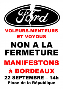 """Résultat de recherche d'images pour """"ford 22 septembre bordeaux manif"""""""