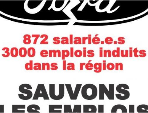 2 juillet : Pour l'interdiction de la fermeture de l'usine Ford