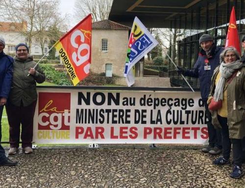 Dordogne : «non au dépeçage du ministère de la Culture»