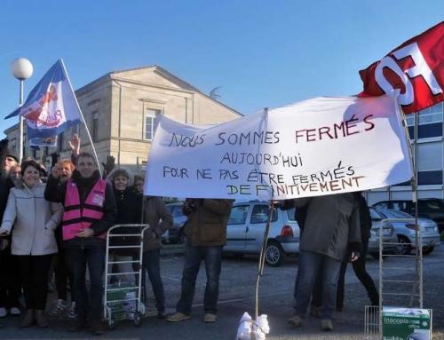 sud ouest : 15 février Le personnel du centre des impôts en grève