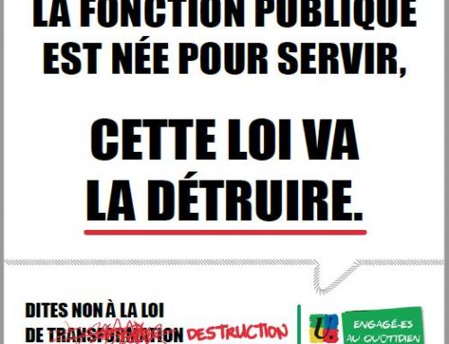27 juin contre le projet de destruction de la Fonction Publique