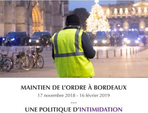 OGLP : le rapport sur UNE POLITIQUE D'INTIMIDATION des forces de l'ordre