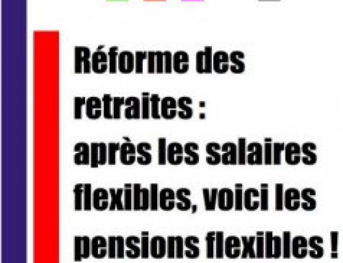 Institut FSU – Réforme des retraites: après les salaires flexibles, voici les pensions flexibles!
