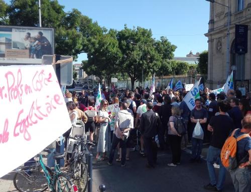 poursuivre la grève de la surveillance du BAC !