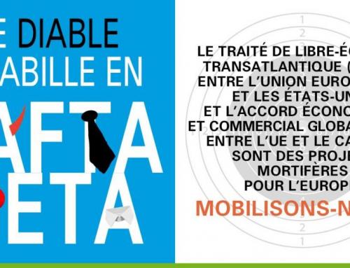 16 juillet : rassemblement contre le CETA