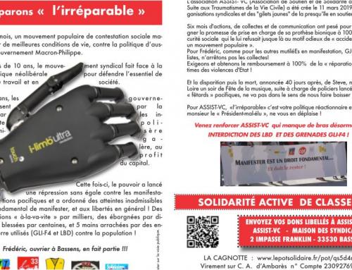 solidarité aux mutilés don main bionique