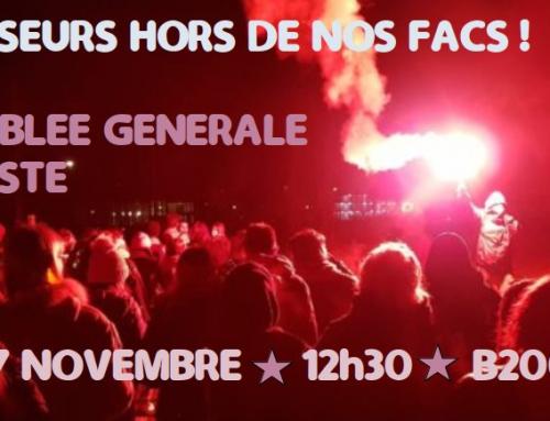 7 nov 12h30 fac Montaigne Bx, Agresseurs hors de nos facs : Assemblée Générale Féministe !