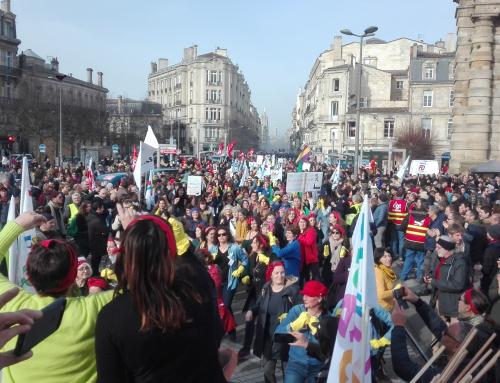 29 janvier journée de mobilisation gréve et manif. 30 janvier marche nocture