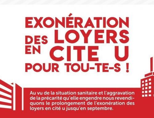 PETITION Exonération des loyers en Cité-U pour tou-te-s