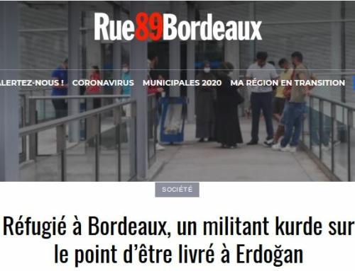 Réfugié à Bordeaux, un militant kurde sur le point d'être livré à Erdoğan