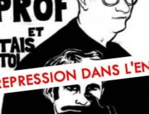 NON à la répression dans l'EN