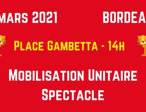 4 mars 2021 mobilisation générale du spectacle 14h place Ganbetta, Bx