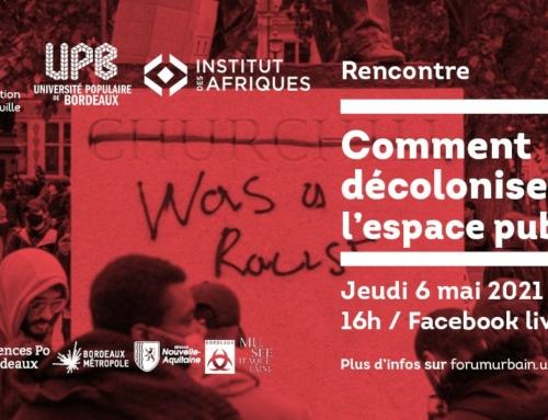 comment décoloniser l'espace public ? 6 mai 16h Facebook live