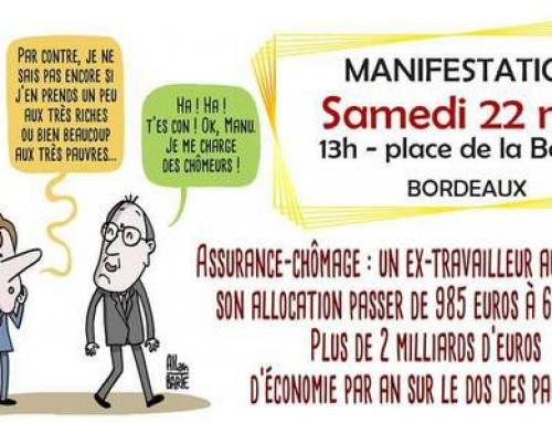 22 mai manifestation Contre la réforme de l'assurance chômage, pour notre sécurité sociale et la conquête de nouveaux droits