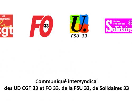 CP intersyndicale de Gironde CGT FO FSU SOLIDAIRES